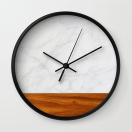 Marble and Wood 2 Wall Clock