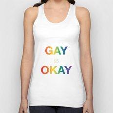 Gay is Okay Unisex Tank Top