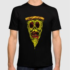 Pizza Face - Zombie Mens Fitted Tee LARGE Black