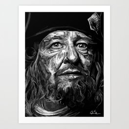 Captian Barbossa Art Print