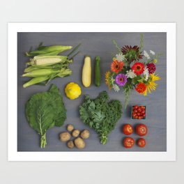 Farm Share Art Print