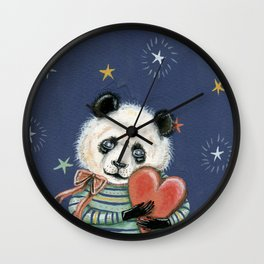 Kevin the giant panda Wall Clock
