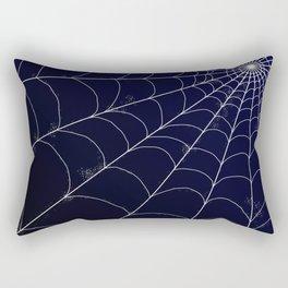 Spiderweb on Midnight Rectangular Pillow
