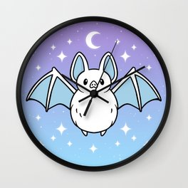 Cute Night Bat Wall Clock