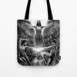 VI. The Lovers Tarot Illustration Tote Bag