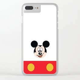Mickey Mouse No. 19 Clear iPhone Case