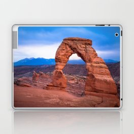 Delicate - Delicate Arch Glows on Rainy Day in Utah Desert Laptop & iPad Skin