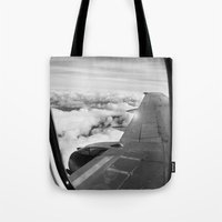 plane Tote Bags featuring Plane by Laheff
