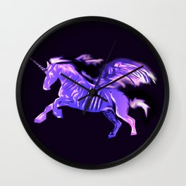 Purple Unicorn Wall Clock