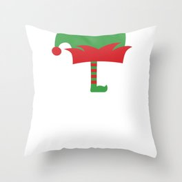 Cute Christmas Elf Squad Throw Pillow