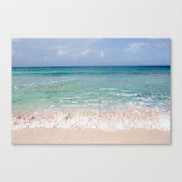 Beachin' on Barbados Canvas Print
