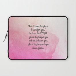 Jeremiah 29:11, Encouraging Bible Verse Laptop Sleeve