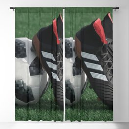 Football with soccer shoes #sports #society6 Blackout Curtain