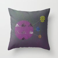 compass Throw Pillows featuring Compass by Last Call