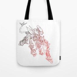 Blade Liger - Red/Black Gradient Ink Tote Bag