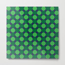 Green Dodecagons on Blue Metal Print