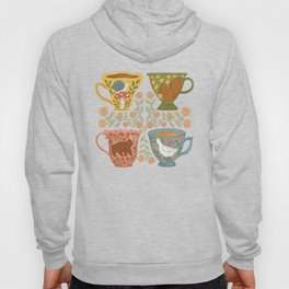 Floral Animal Teacups Hoody
