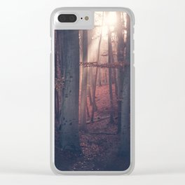 Autumn Moods Clear iPhone Case