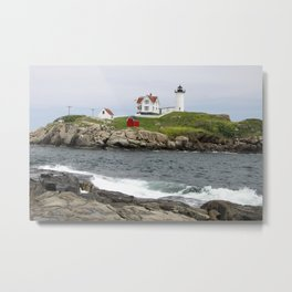 Nubble Light Cape Neddick Metal Print