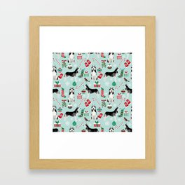 Siberian Husky christmas festive holiday gifts for husky owners by pet friendly Framed Art Print