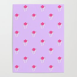 Holy orchid pattern Poster