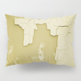 Damaged wall pic in background with yellow color, ready for clothes,furnitures, iphone cases Pillow Sham