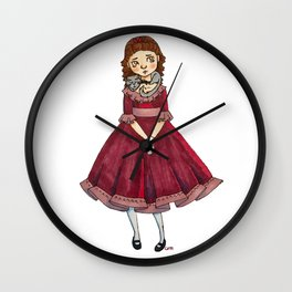 Little Girl With A Cat Wall Clock