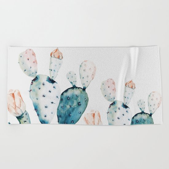 Spa Towels By Kassafina: Fresh Cactus Beach Towel By Lostfog Co↟