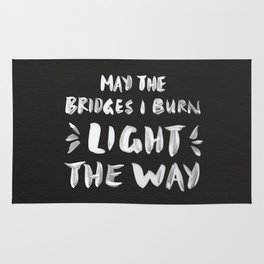 Burned Bridges – Black & White Rug