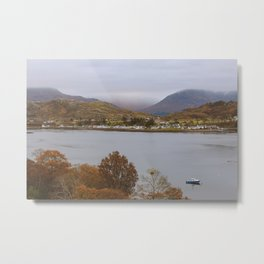 Village by the Loch Shieldaig, Scotland, UK | Nature Landscape Travel Photography | Wall Art Decor Metal Print