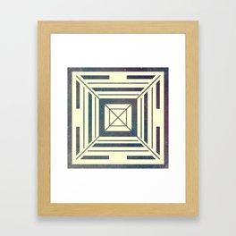 Space Square Framed Art Print