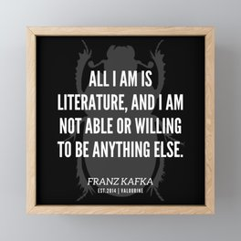51  |  Franz Kafka Quotes | 190517 Framed Mini Art Print