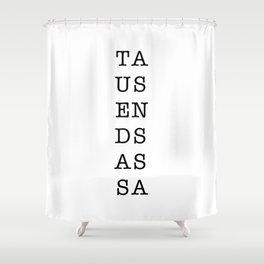 TAUSENDSASSA Character Square Shower Curtain