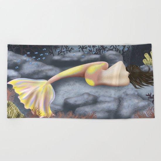 Sleeping Mermaid Beach Towel