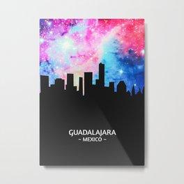 Guadalajara Mexico Skyline Metal Print