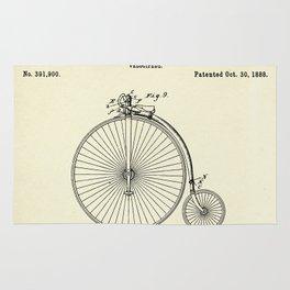 Velocipede-1888 Rug