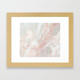 Softest blush pink marble Framed Art Print
