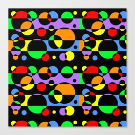 Rainbow Geometric Multicolored Modern Circle Pattern Canvas Print