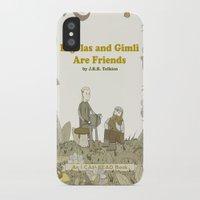 legolas iPhone & iPod Cases featuring Legolas and Gimli Are Friends by James E. Hopkins