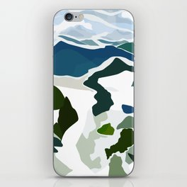 green mountains iPhone Skin