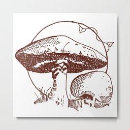 Forest Lover's Mushrooms Metal Print