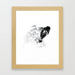 Angry Bear Framed Art Print