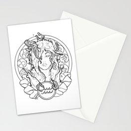 Zodiac Series   Aquarius Stationery Cards
