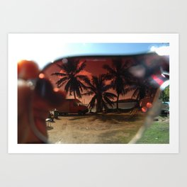 bora bora sunglasses Art Print