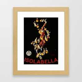 Vintage 1920's Leonetto Cappiello  IsolaBella Lithograph Advertising Wall Art Style 2 with red text Framed Art Print