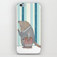 beaver iPhone & iPod Skins featuring Dr Beaver by Yiting Lee