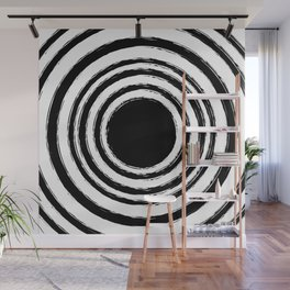 Painted Circles Wall Mural