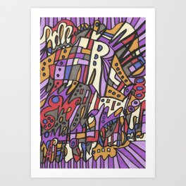 Feel This Real Forever (purple) Art Print
