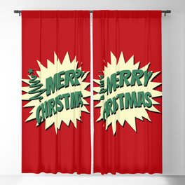 Comic style Christmas design Blackout Curtain