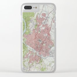 Vintage Map of Austin Texas (1955) Clear iPhone Case